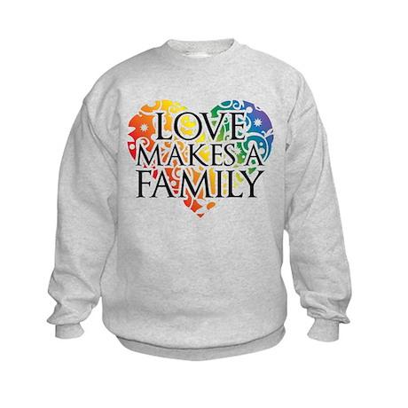 Love Makes A Family LGBT Sweatshirt