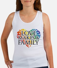 Love Makes A Family LGBT Tank Top