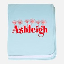 Orange Personalized Name baby blanket