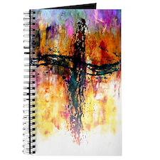 Impressionistic grunge cross Journal