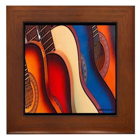 GUITARRAS Framed Tile