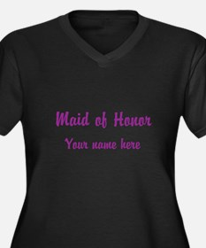 Maid Of Honor By Name Women's Plus Size V-Neck Dar