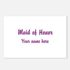 Maid Of Honor By Name Postcards (Package of 8)