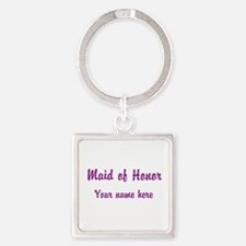 Maid Of Honor By Name Square Keychain