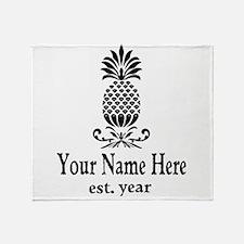 Vintage Pineapple Throw Blanket