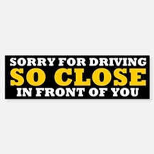 Driving So Close in Front of You Bumper Car Car Sticker