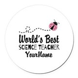 Science teacher Round Car Magnets