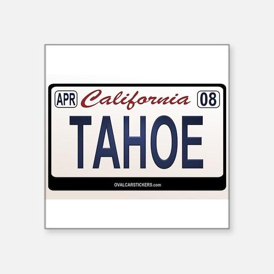 California License Plate Sticker - TAHOE Sticker