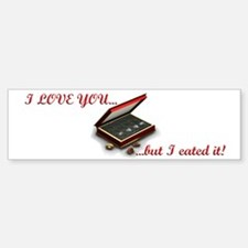 I eated it - white background Sticker (Bumper)