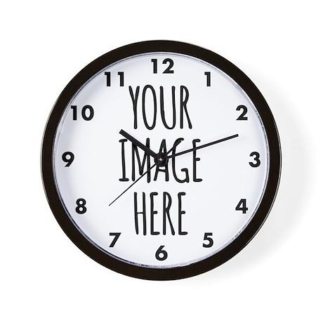 custom photo wall clock
