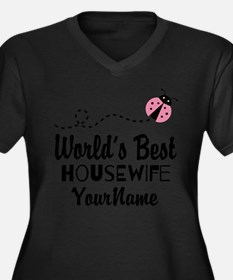World's Best Housewife Women's Plus Size V-Neck Da