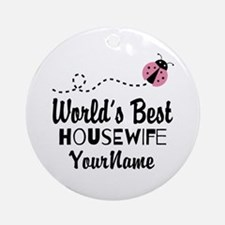 World's Best Housewife Ornament (Round)