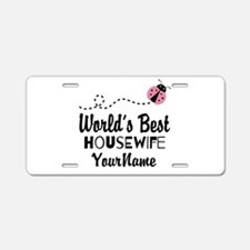 World's Best Housewife Aluminum License Plate