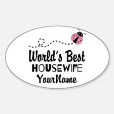 World's Best Housewife Sticker (Oval)