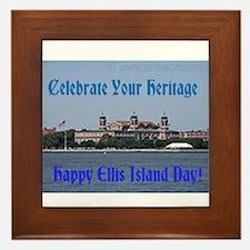 Ellis Island Day Framed Tile