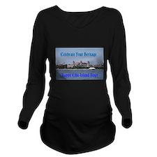 Ellis Island Day Long Sleeve Maternity T-Shirt