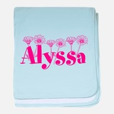 Pink Personalized Name baby blanket