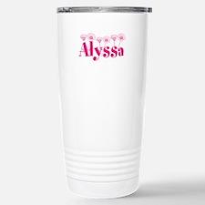 Pink Personalized Name Travel Mug