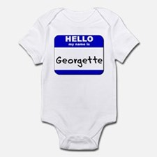 hello my name is georgette  Infant Bodysuit