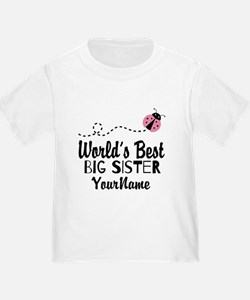 Worlds Best Big Sister - Personalized T