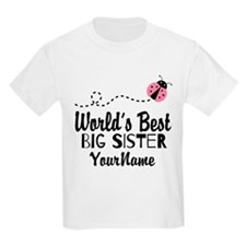 Worlds Best Big Sister - Personalized T-Shirt