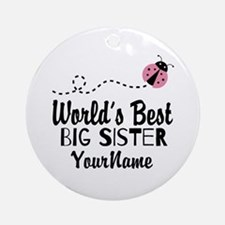 Worlds Best Big Sister - Personalized Ornament (Ro