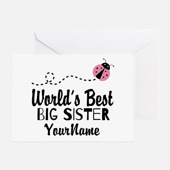 Worlds Best Big Sister - Personalized Greeting Car