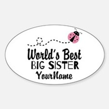 Worlds Best Big Sister - Personalized Decal