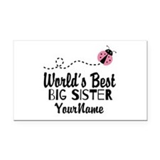 Worlds Best Big Sister - Personalized Rectangle Ca
