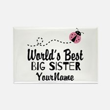 Worlds Best Big Sister - Personalized Rectangle Ma