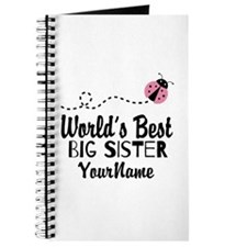 Worlds Best Big Sister - Personalized Journal