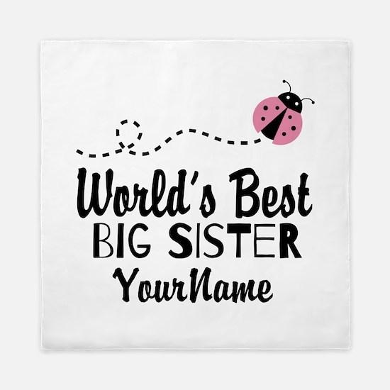 Worlds Best Big Sister - Personalized Queen Duvet