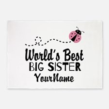 Worlds Best Big Sister - Personalized 5'x7'Area Ru