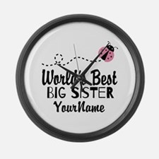 Worlds Best Big Sister - Personalized Large Wall C