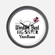 Worlds Best Big Sister - Personalized Wall Clock