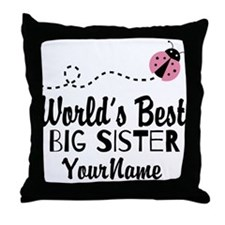 Worlds Best Big Sister - Personalized Throw Pillow