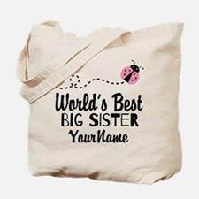 Worlds Best Big Sister - Personalized Tote Bag