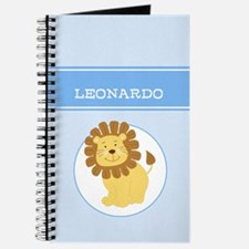 Blue Jungle Lion Customizable Journal Add A Name