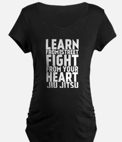 Learn Jiu-Jitsu - Cafe - Black Maternity T-Shirt