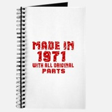 Made In 1971 With All Original Parts Journal