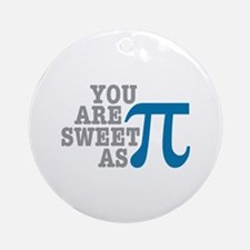 Sweet As Pi Ornament (Round)