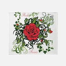 OYOOS Red Roses design Throw Blanket