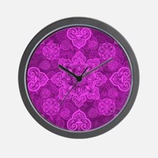 Asian Magenta Musing Wall Clock