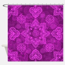 Asian Magenta Musing Shower Curtain