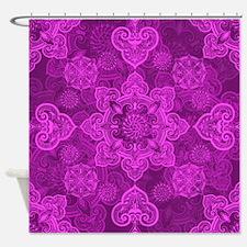Asian Magenta Musing Shower Curtain