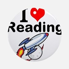 I Love Reading Ornament (Round)