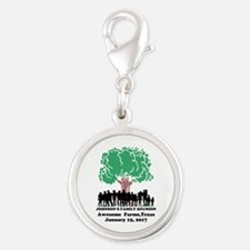 Reunion Personalized Silver Round Charm