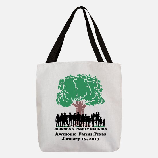 Reunion Personalized Polyester Tote Bag