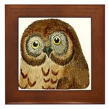 The Ominous Owl Framed Tile