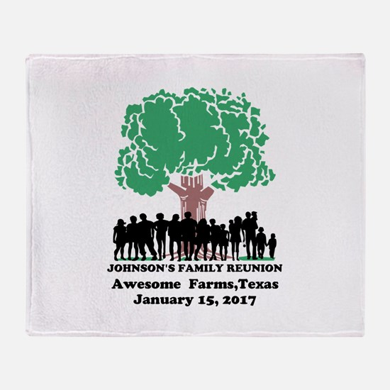 Reunion Personalized Throw Blanket
